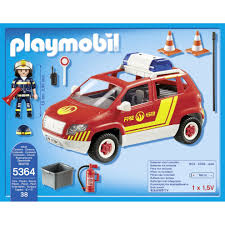 Playmobil 5364 City Action Fire Chiefs Car With Lights And Sound On