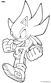 free super sonic en shadow coloring pages