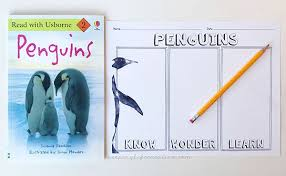 Learn About Penguins With A Kwl Chart - Keeping Life Creative
