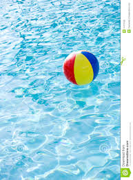 swimming pool beach ball background. Beach Ball Floating On Surface Of Swimming Pool. Object, Nobody. Pool Background U
