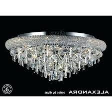 flush chandelier lighting french empire crystal