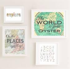lovely travel wall art printable gallery nursery set map world zoom idea sticker themed inspired