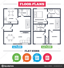 floor plan furniture symbols bedroom. Architecture Plan With Furniture. House Floor Plan. Sale Bag Tag Icons. Discount Special Offer Symbols. 30%, 50%, 70% And 90% Percent Off Signs. Furniture Symbols Bedroom