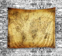 world map tapestry wall hanging light weight polyester fabric wall art decor 60l x 51w inch on antique cloth wall art with world map tapestry wall hanging light weight polyester fabric wall