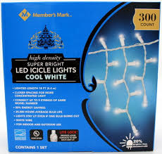 Ge 100 Count Cool White Led Christmas Icicle Lights Members Mark Super Bright Led Icicle Lights Cool White Christmas 300 Ct