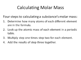 Molar Mass. Molecular Mass The molecular mass of a substance is ...