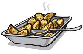baked potato clip art. Unique Clip Illustration Of Hot Roasted Potatoes In Plate And Baked Potato Clip Art T