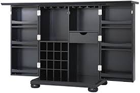 black bar cabinet. Exellent Cabinet Crosley Furniture Alexandria Expandable Top Bar Cabinet  Black On T
