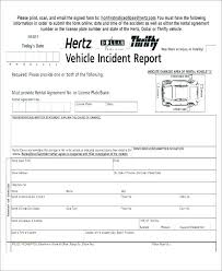 Vehicle Accident Report Template Word Form It Incident New