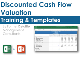 cash flow model excel discounted cash flow model template in excel by ex deloitte consult