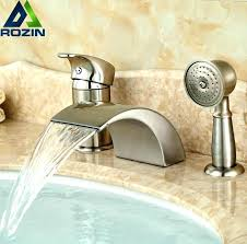 deck mounted bathtub faucet mount waterfall bathroom tub set bath shower mixer water clawfoot with