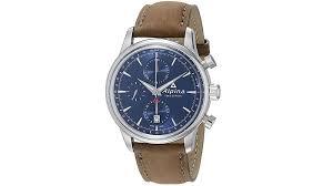 alpina men s al 750n4e6 alpiner chronograph og display automatic self wind brown watch