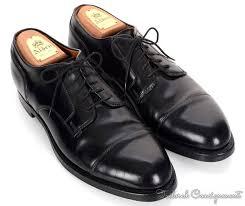 Alden Shoe Size Chart Alden Solid Black Shell Cordovan Mens Oxford Blucher Dress