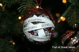 Full Of Great Ideas Glass Wedding Invitation Christmas Ornament