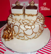 Golden Rings Wedding Cake Marriage Anniversary Cakes In Lahore