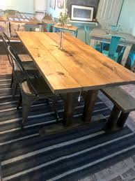 Astounding Farmhouse Bench Table Set Stand Rustic Chairs Ideas Round