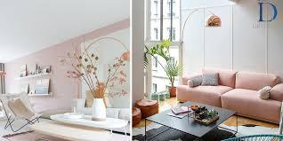 powdery pink interior design trends 2018