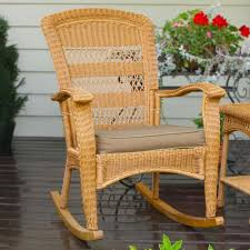 image of rattan rocking chair ideas