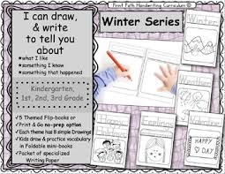 i can draw and write to represent ideas winter series