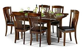 julian bowen canterbury extending dining table set with 6 chairs gany coloured lacquer