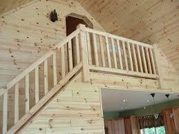 simple rustic wood stair railings ideas