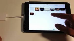 apple ipad file transfer using lightning to sd card reader