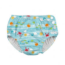 Snap Reusable Absorbent Swimsuit Diaper