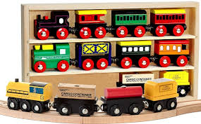 kids destiny 12 pcs wooden engines train cars collection compatible with thomas wooden railway brio