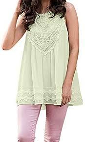 Staron Color Chart Staron Womens Lace Chiffon Top Summer Fashion Solid Color