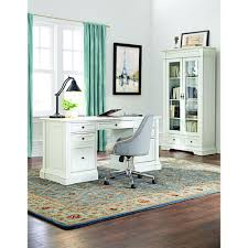 white home office furniture. buffors rubbed ivory desk with storage white home office furniture