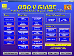 onboard diagnostic ii obd ii help obd ii guide quick reference training software