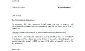 Employment Separation Notice Template Copy Termination Letter To
