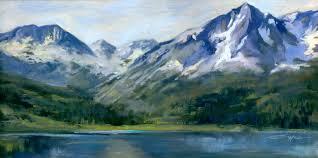 mountain studio painting