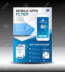 Flyer Design App Mobile Apps Flyer Template Business Brochure Flyer Design Layout