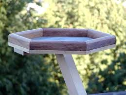 platform bird feeder plans wooden