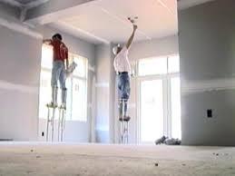 closing up the walls hanging drywall