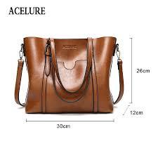 acelure women bag oil wax women s leather handbags
