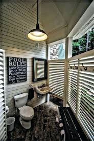 outdoor bathroom said this is located in our summer house next to pool area we have a small child so stop little feet from ideas