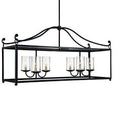 declaration 6 light antique forged iron chandelier with clear