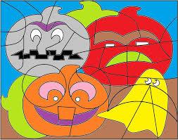 Coloriage Magique Halloween Cp Et Ce2 Et Ce1 Jeux Math Matiques Cp