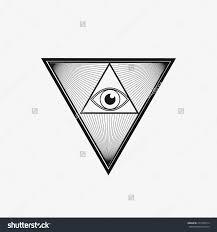 18 Triangle Eye Tattoo Designs