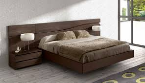 wooden furniture design bed. bedroom platform bed design brown wool blanket pillow white round table lamp dark wooden unfurnished floor graphic printed furniture