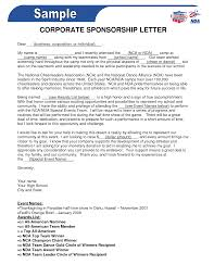 Company Sponsorship Letter Corporate Sponsorship Letter Crna Cover Letter 3