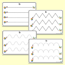 Writing Patterns Interesting Bb' Themed PreWriting Patterns Letters And Sounds Phonics