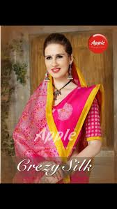 apple crezy silk cal daily wear saree collection lowest on biddmart 14