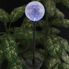 le ball led solar stake light