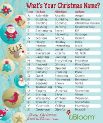 Holiday Name A Little Holiday Fun From The Elves At Ubloom Whats Your