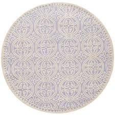 safavieh cambridge lavender ivory 4 ft x 4 ft round area rug