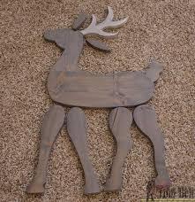make a cute diy wood reindeer from a simple 1x8 board free printable pattern