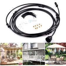 outdoor 3m 10ft mist cooling system patio mister garden kit misting air cooler